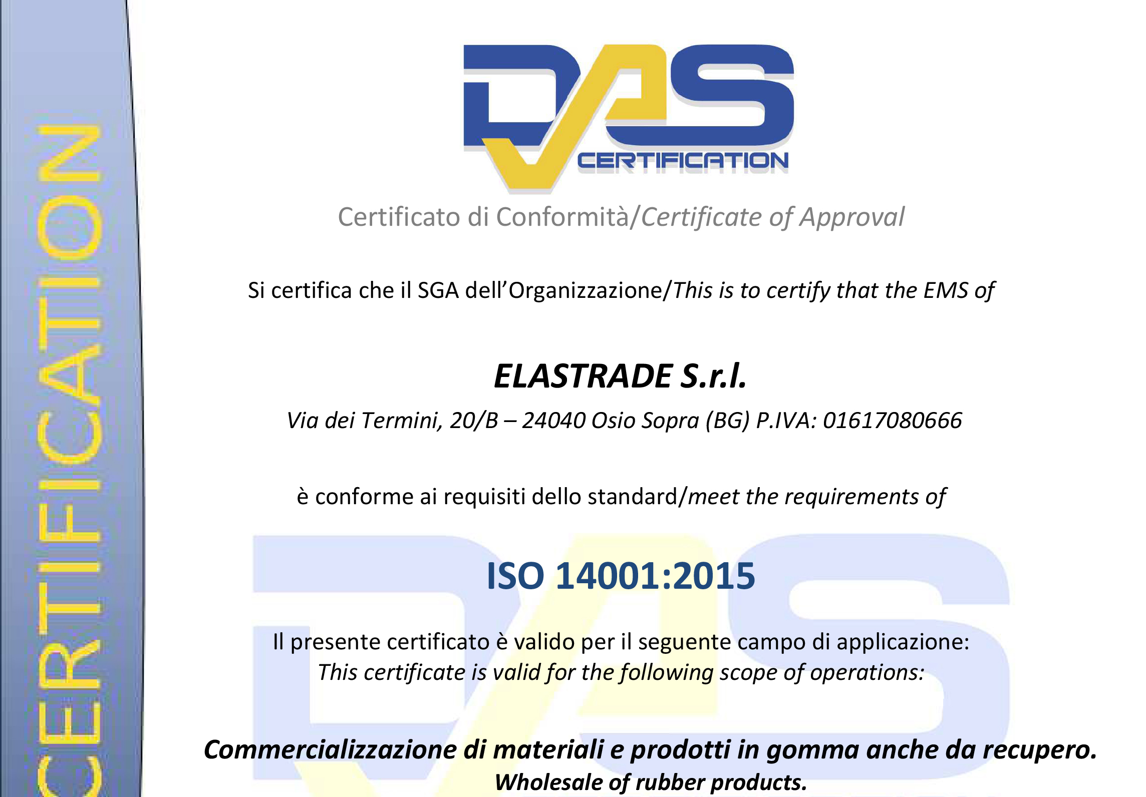 Das Certification 14001:2015