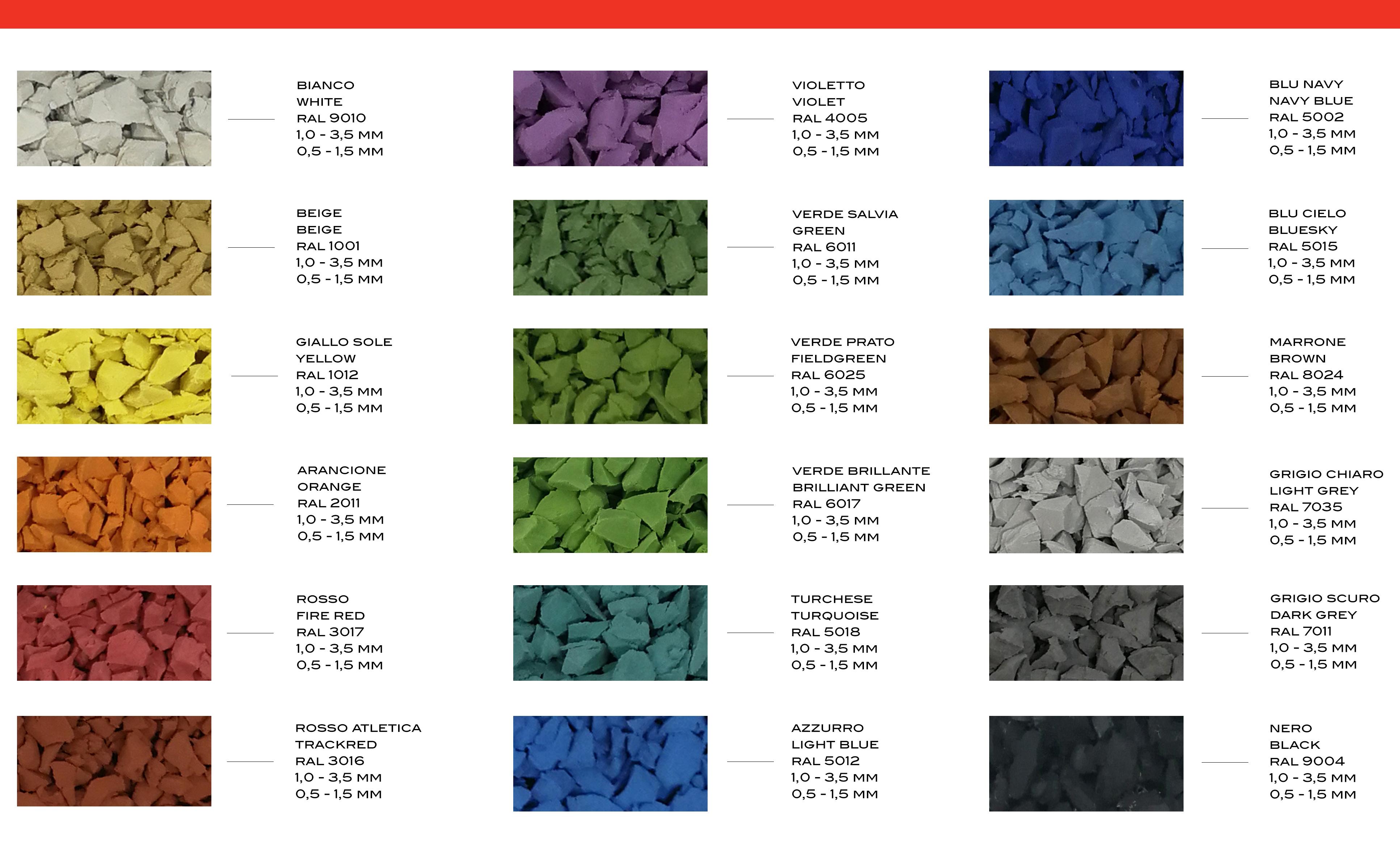 gamma colori gommamica epdm